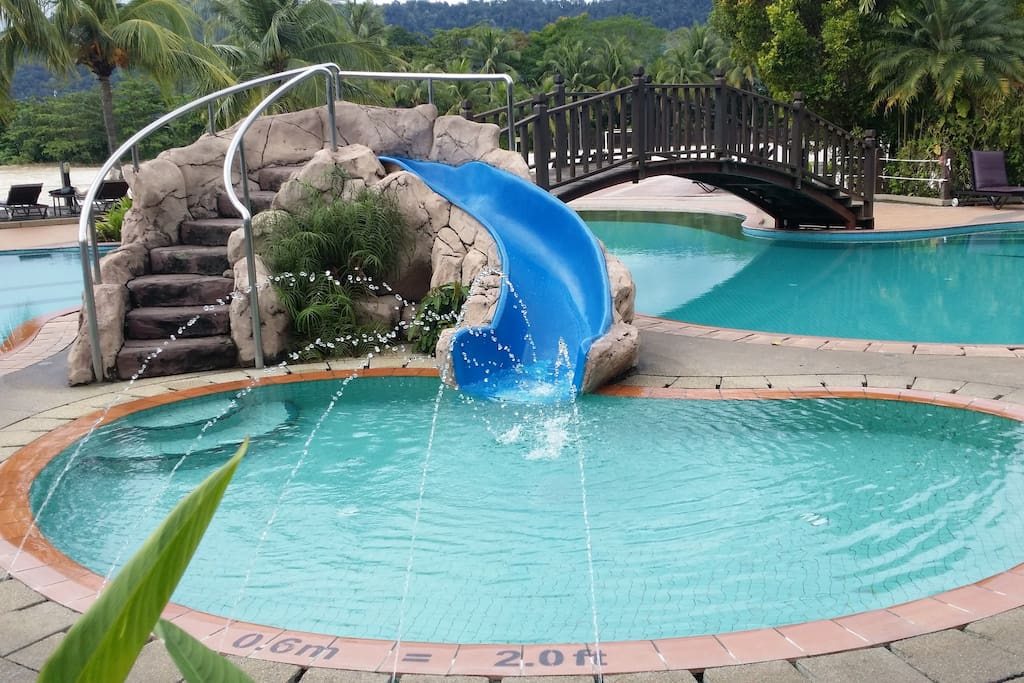 You and your kids will love this water-slide.