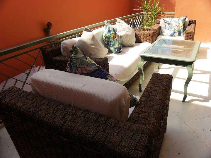 Chambre Chefchaouen: chambre simple grande villa
