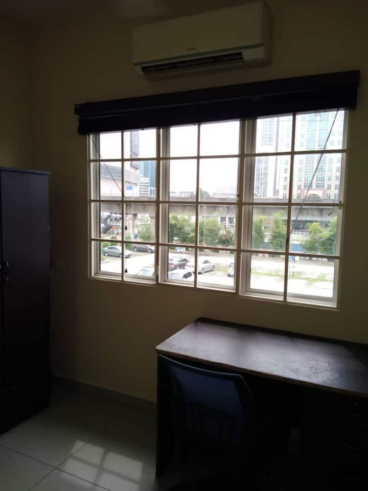 Single furnished room with attached bath and ac