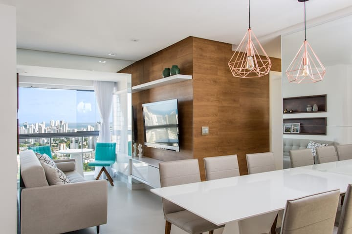 Furnished and equipped apartment in Boa Viagem