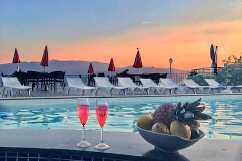 Flat no Hotel Portogalo com vista para o mar#
