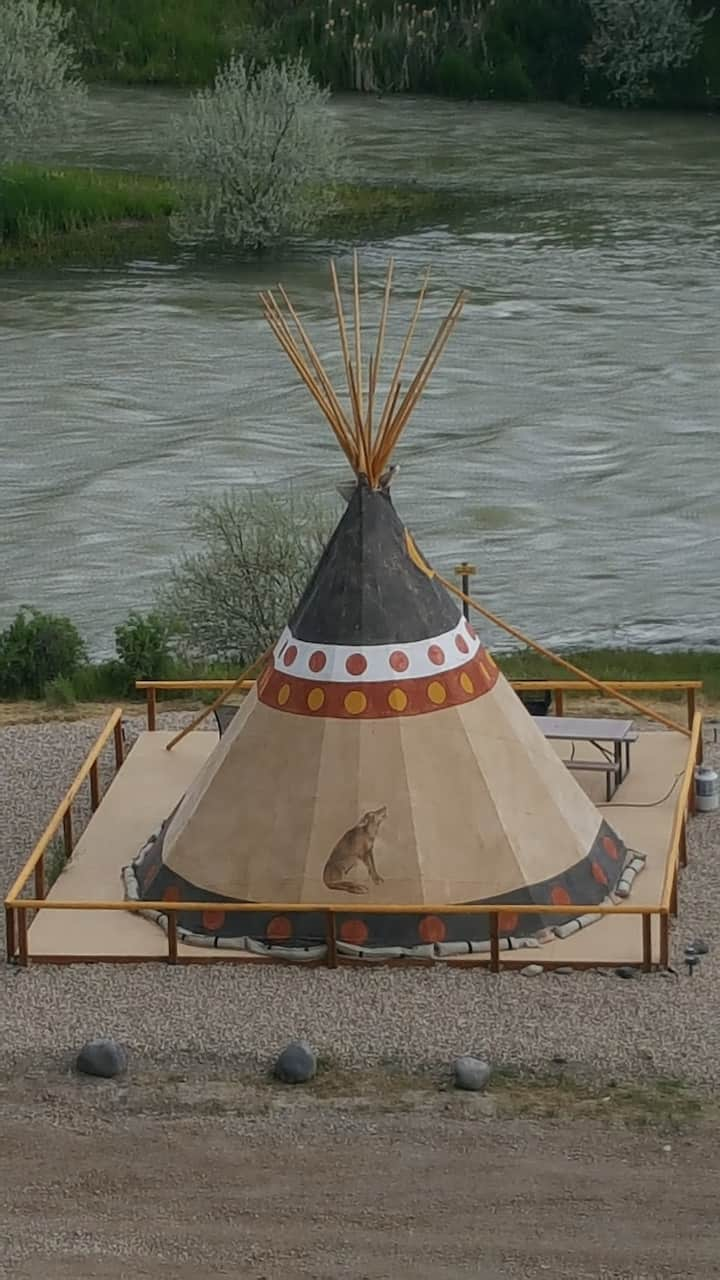 Cody Trout Ranch Camp Coyote Tipi