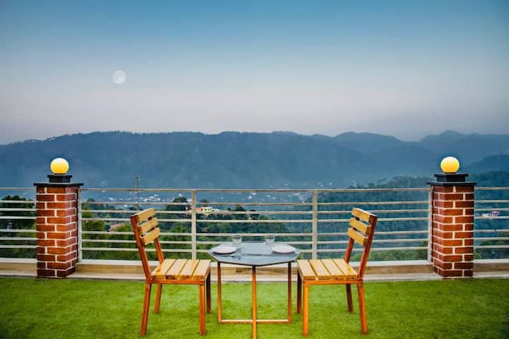 Spacious 1 bhk,mountain view amidst pine glades