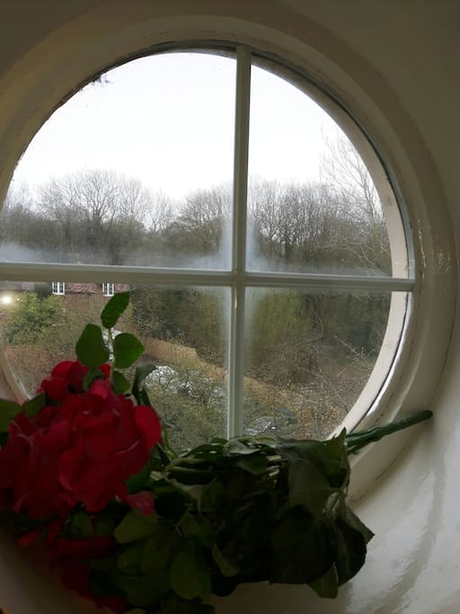 Lovely countryside views from the feature chapel window