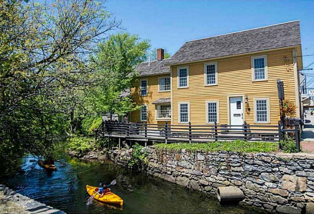 The Tide Mill is a historic building located by a running brook where you will see Swans, ducks and the occasional kayaker float by.