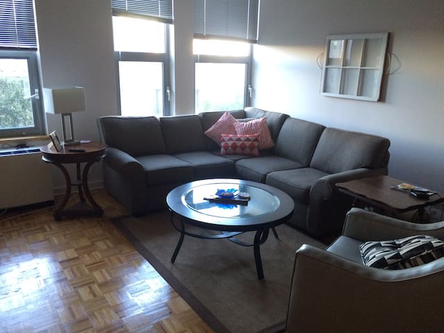 Large, sunny 1bd in heart of downtown Stamford - Stamford - Apartment