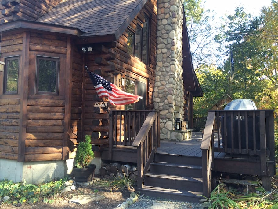 Modern Cozy Log Cabin In Copake Houses For Rent In