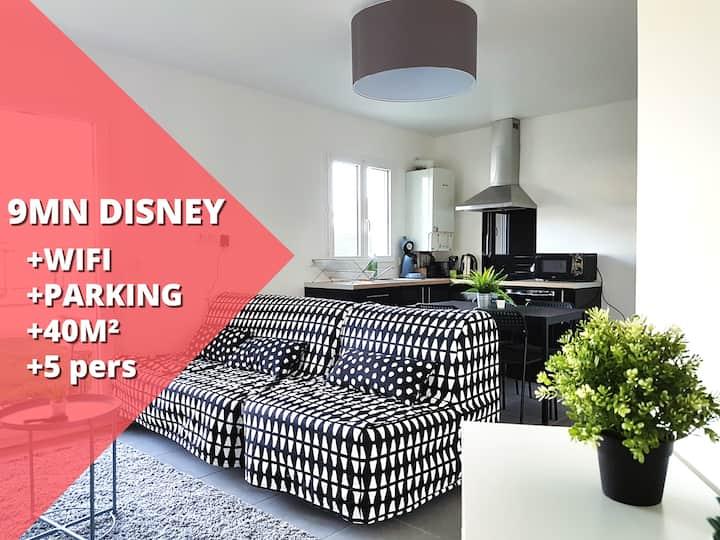 T2 Modern : 40m² (5 pers) proche Disneyland Paris