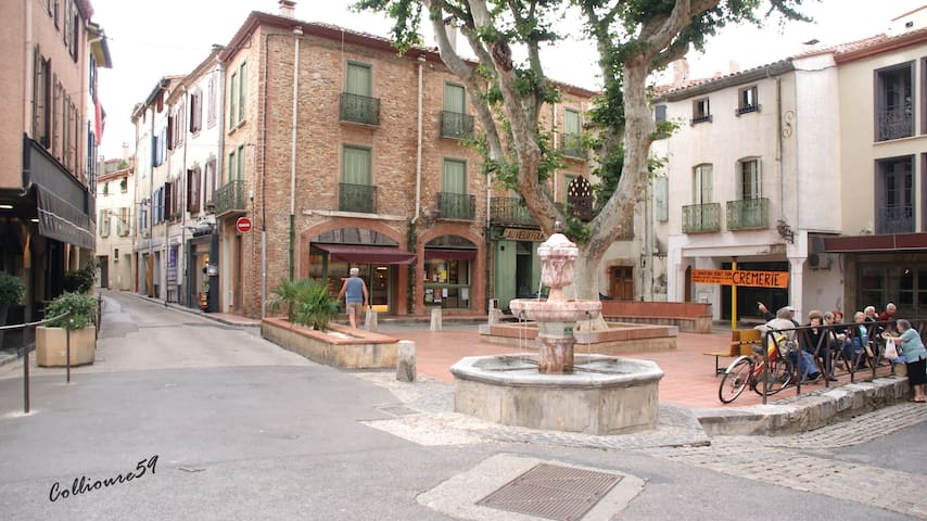Appartement atypique plein centre village catalan