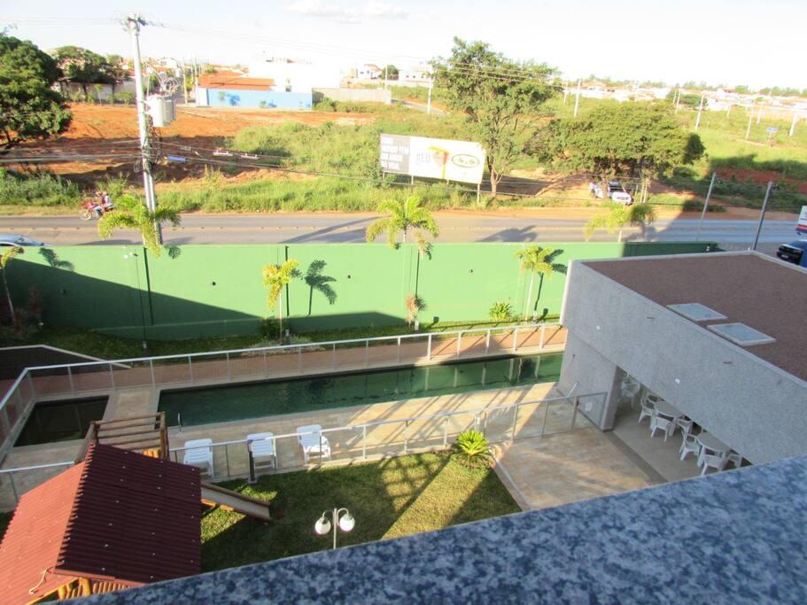 Vista da Janela para piscina (4º Andar)