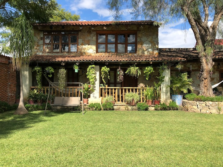 Loft con jardines.