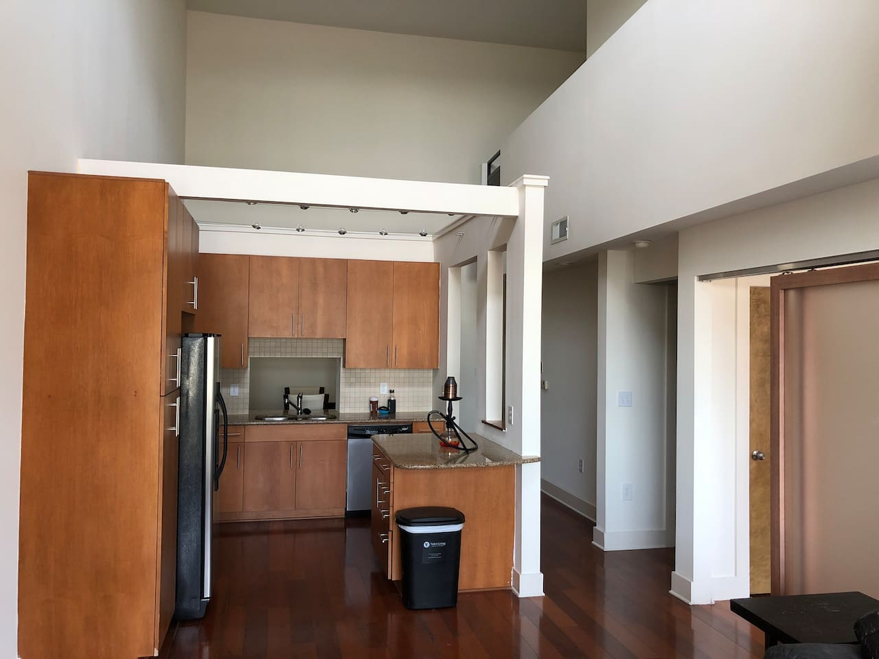 View from Living Area into Kitchen