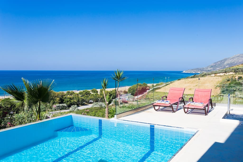 Luxuriate Sea views from the pool area!