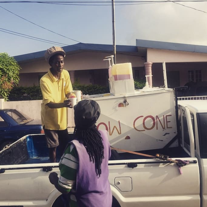Snowcones are also available via delivery  depending on day of stay
