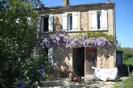 chambres indépendantes dans maison de caractère - Savenès - Rumah