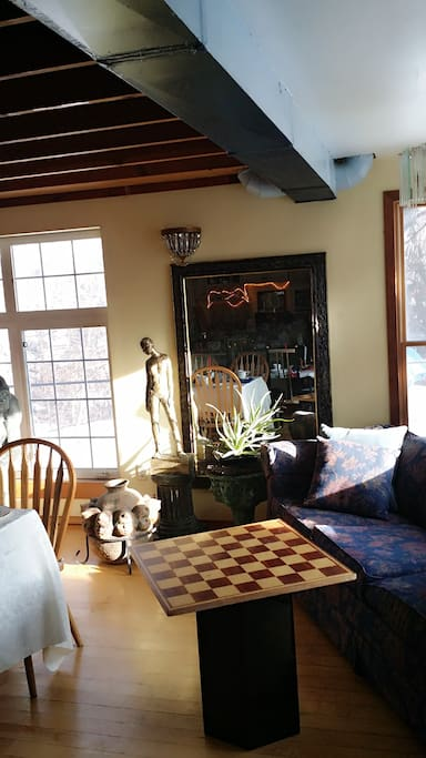 Spacious Dining Area with big windows