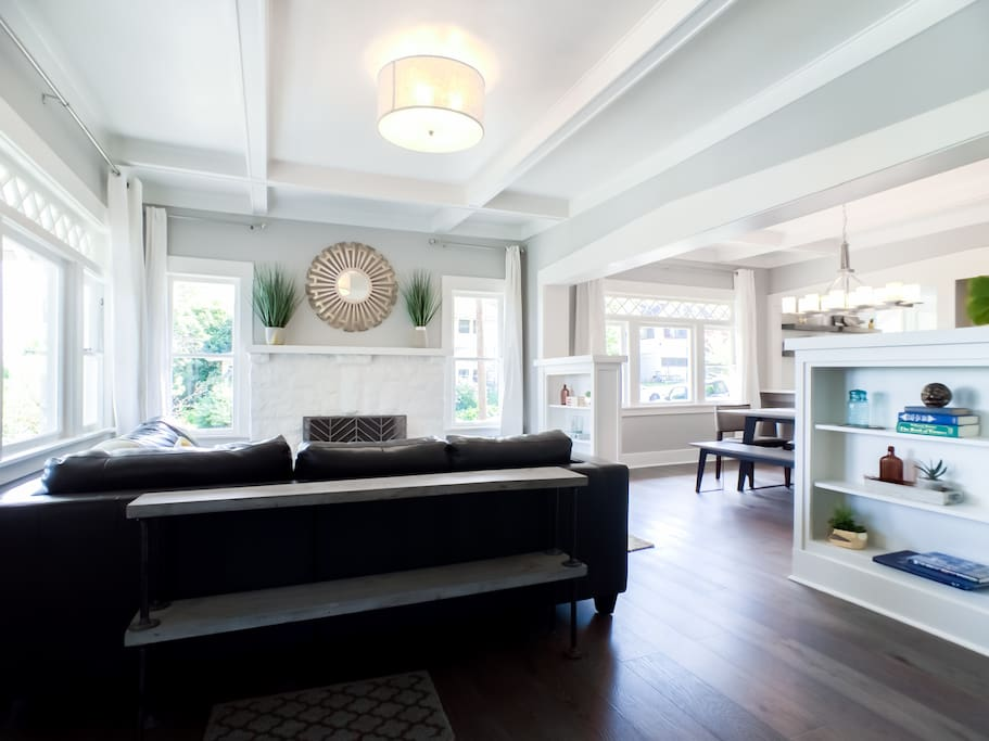 Classic living room with original mouldings