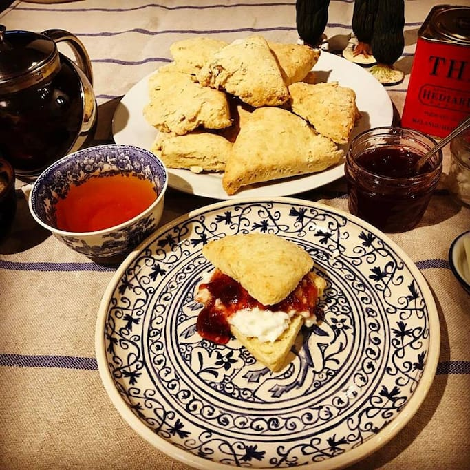 Cream Tea (Tea and Scones) served at 4pm each day