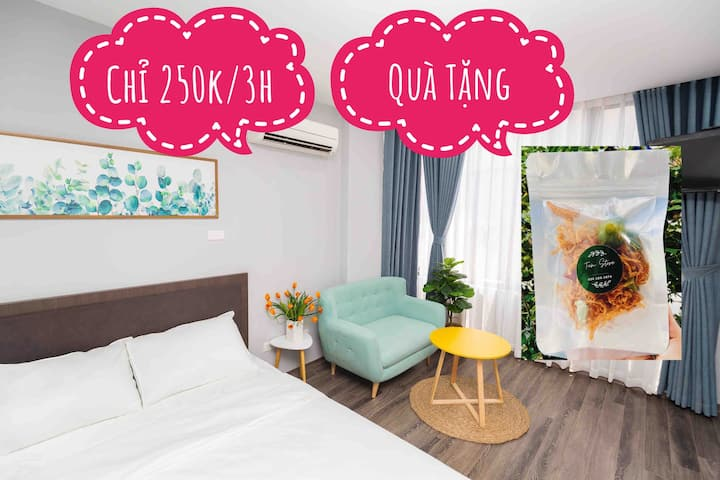 💝Pinky House💝 4.1 1br apt Hoang Cau lake Center