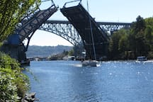 The historic Fremont Bridge.