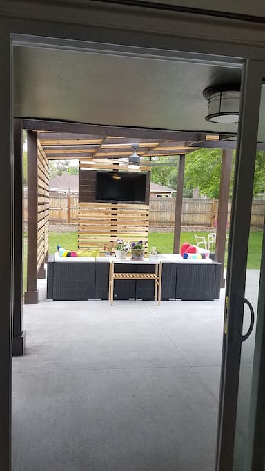 TV on patio/grill
