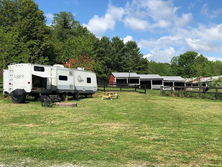 Camper on Civil War Era Property