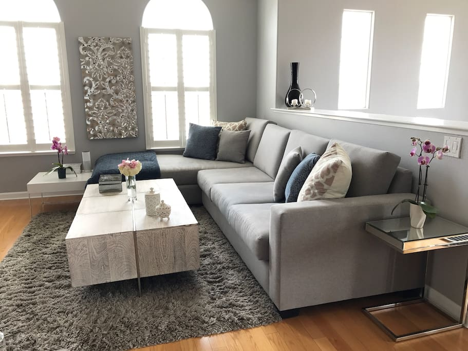 Custom Sectional in Living Room