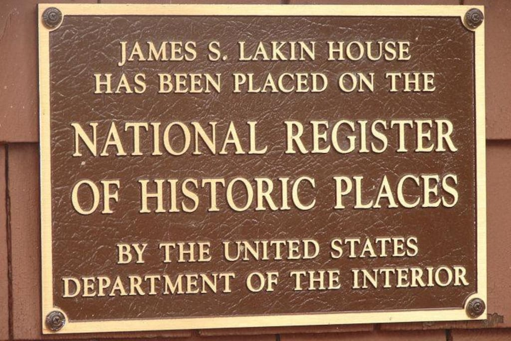 Home is in the National Register of Historic Places
