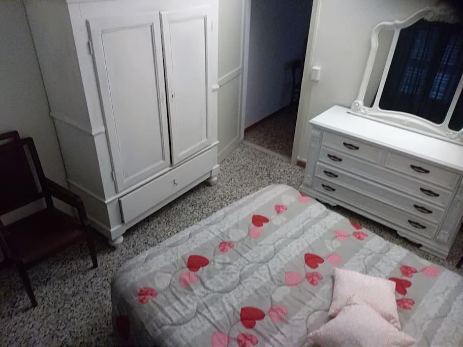 Camera letto matrimoniale vista dall'alto