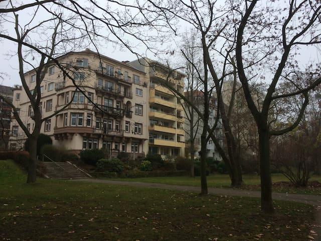Balkon zur Rheinseite und ins Grüne