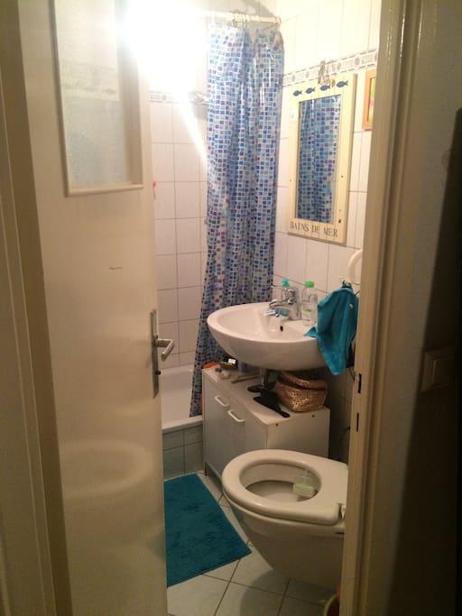 Also a lovely tiny bathroom