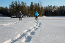 Bring snowshoes and explore the Briggs Lake chain