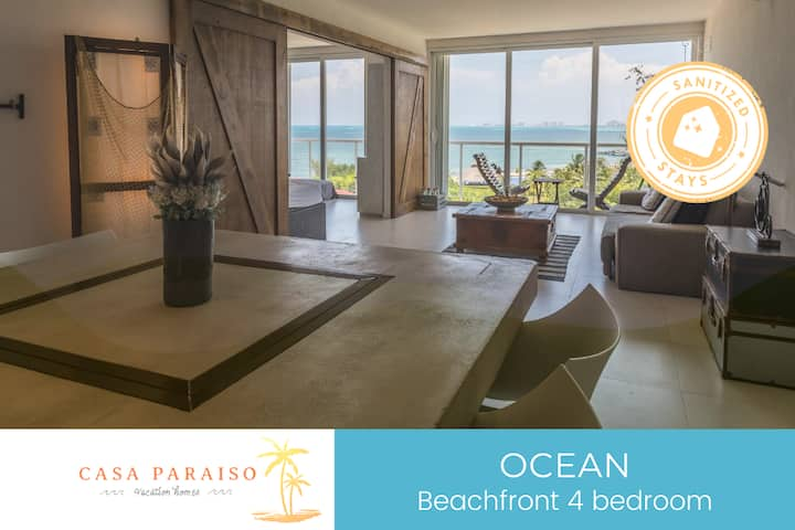 ☆ OCEAN- Beachfront/ shared pool/WI-FI/ 8 pax☆