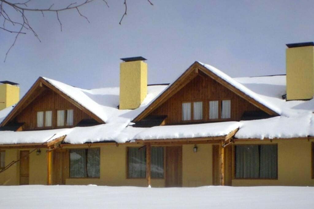 Apart Lomas del Correntoso, Cabaña para 7 personas (66 mts) con vista a la Montaña y al Lago