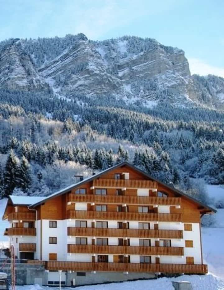 Appartement de 2 chambres à Thollon-les-Mémises, avec magnifique vue sur le lac et WiFi - à 500 m des pistes