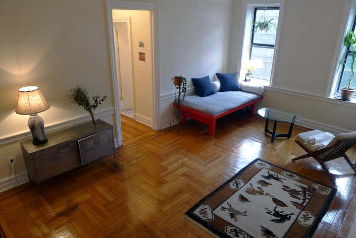 Bright and comfy bed in huge Brooklyn 1 bdrm - Brooklyn - Daire