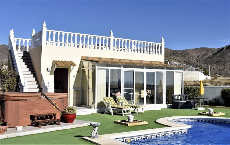 Self-contained villa casita with fabulous views.