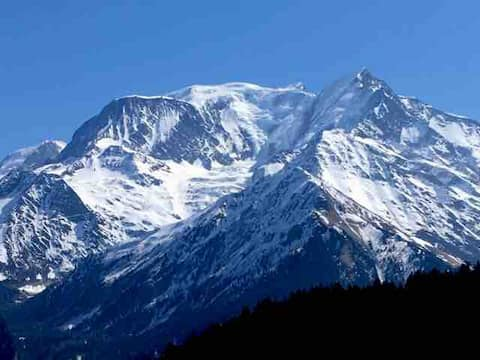 Vacances face au Mont Blanc
