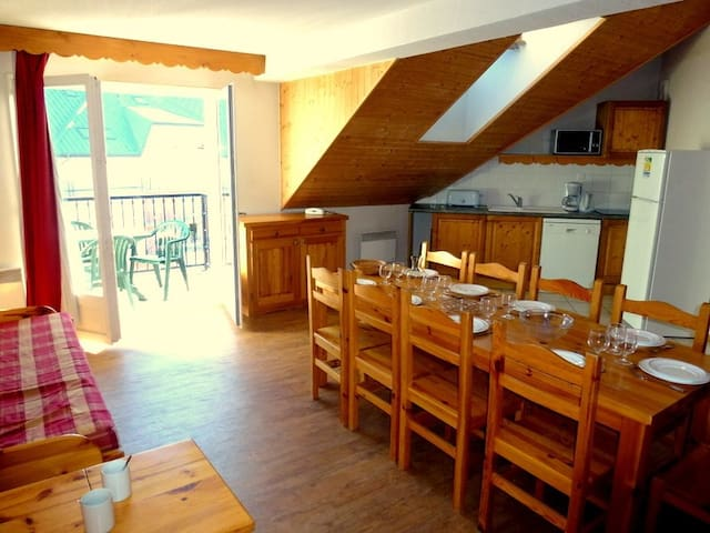 Welcome to our lovely 2 bedroom apartment in Saint Gervais!