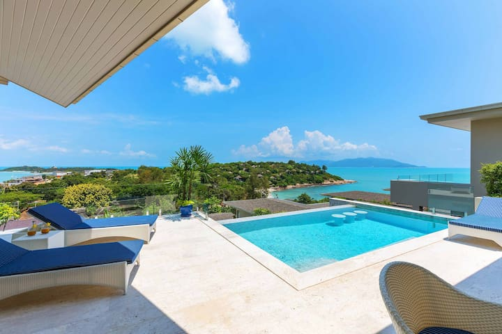 Private Villa for 6 People, Seaview, private pool