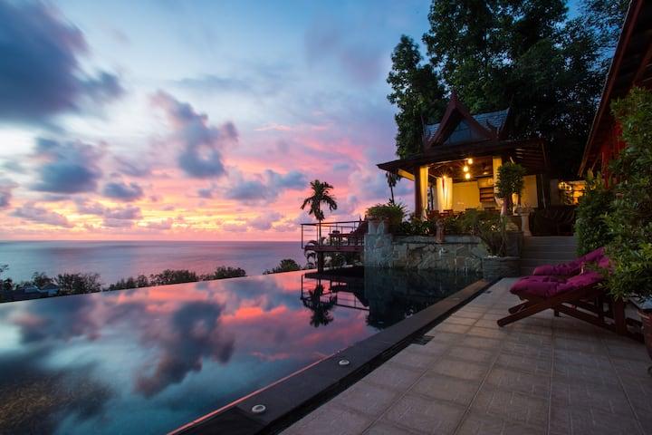 4 Bedroom Seaview villa, Chef and Transportation