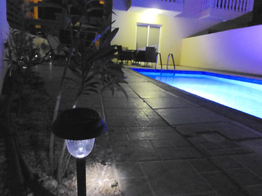 Villa pool at Night