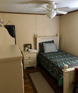 Quiet, Private, and Clean, Bed and Bathroom