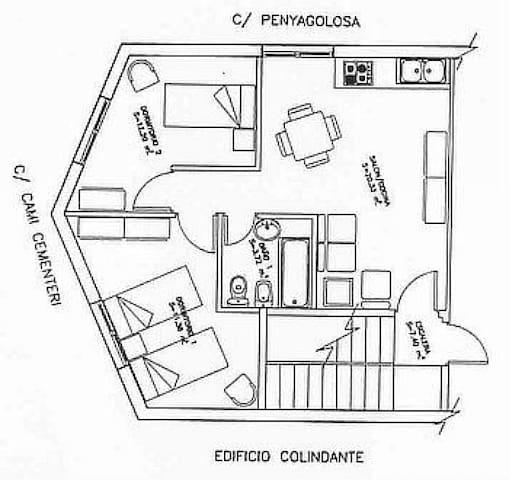 Plano apartamento Gregal