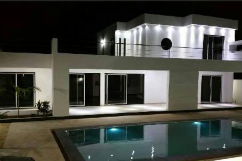 La villa illuminée
