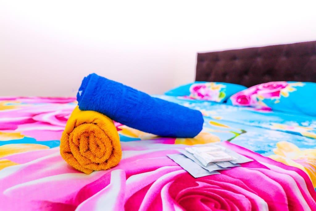 Чистые полотенца и одноразовые средства гигиены