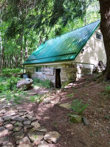 Rustic Cabin with Sleeping Loft.