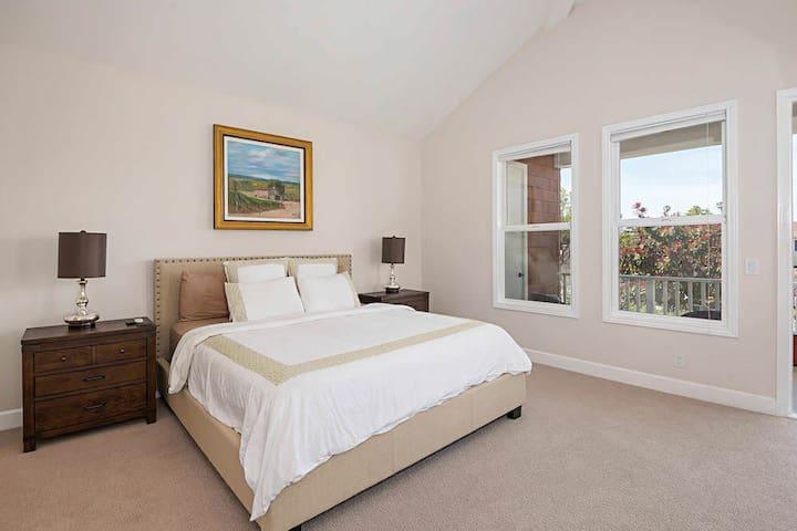 Bedroom 1: King bed