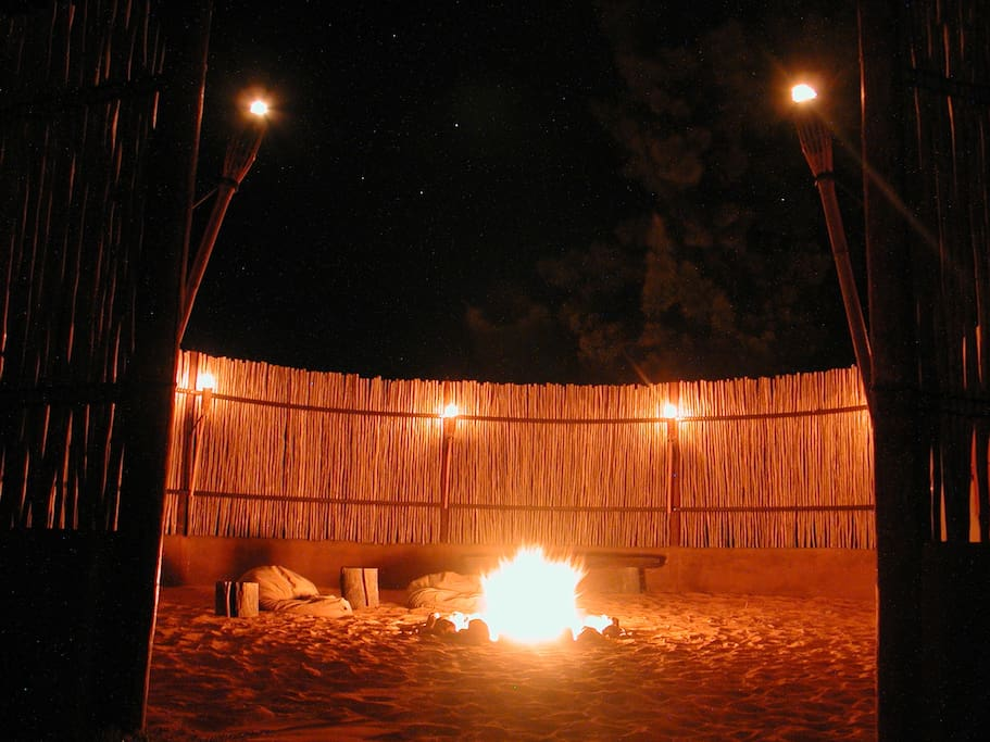 The Boma - magical fires,  conversations  and incredible stars