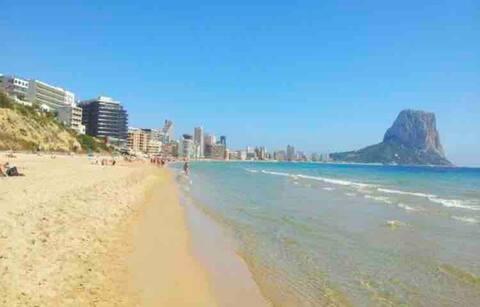 Calpe arenal playa, beach, well located, High WIFI